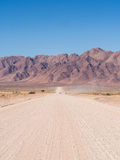 Typical gravel road in Namibia Royalty Free Stock Photo