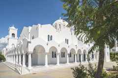 Typical Greek church Stock Photos