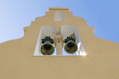 Typical greek church tower Royalty Free Stock Photography