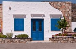 Typical Greek facade Stock Photos