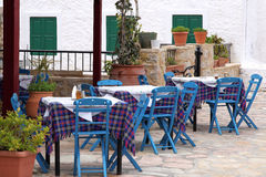 A typical greek fish tavern Stock Images