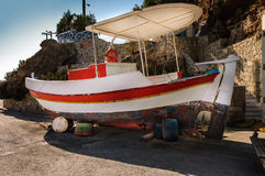 Typical greek fishing boat Royalty Free Stock Images