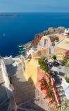 Typical Greek house in Oia village on Santorini island, Greece Royalty Free Stock Photo