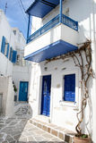 Typical greek island homes - Paros Island, Greece stock photography