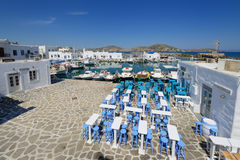 Typical Greek islands' village of Naousa, Paros island, Cyclades, Stock Photography