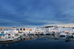 Typical Greek islands' village of Naousa, Paros island, Cyclades Royalty Free Stock Photo
