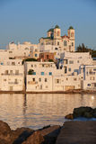 Typical Greek islands' village of Naousa, Paros island, Cyclades Stock Photos