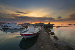 Typical Greek islands' village of Naousa, Paros island, Cyclades, Stock Photo