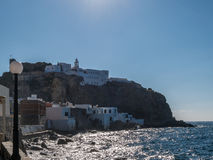 Typical Greek local Houses Nisoros Island  Aegean Sea Royalty Free Stock Images