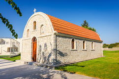 Typical Greek small church on Rhodes Royalty Free Stock Photo