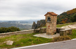 Typical greek small road shrine Stock Photos