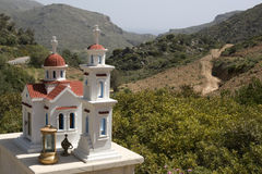 Typical greek small road shrine - Crete Stock Photos