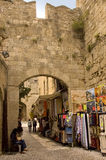 Typical Greek street scene Royalty Free Stock Photos