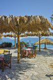 Typical greek tavern in Karavomilos Village, Kefalonia, Greece Royalty Free Stock Image