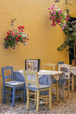 A typical Greek taverna Stock Photo
