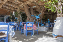 A typical Greek taverna stock images