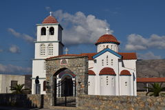 Typical Greek white church at Kissamos Port Royalty Free Stock Images