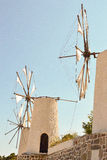 Typical Greek windmills. Stock Photography
