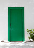 Typical green door in Lanzarote Royalty Free Stock Photos