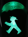 Typical green light of berliner semaphore Royalty Free Stock Image