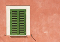 Typical green shutters in the South Royalty Free Stock Images