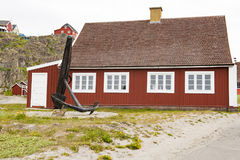 Typical Greenlandic wooden house Royalty Free Stock Image