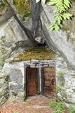 Typical grotto at Cevio on Maggia valley Royalty Free Stock Images