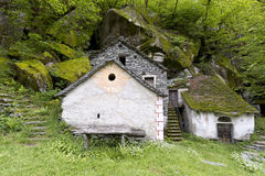 Typical grotto in the south of Switzerland. Stock Photo