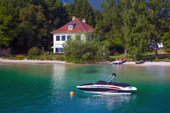 Typical Guests House on Wolfgang See lake shore Stock Photography