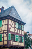 Typical half timbered house in alsace Royalty Free Stock Images