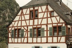 Typical half-timbered house in Moselkern Germany royalty free stock photography