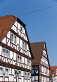 Typical half timbered houses Royalty Free Stock Photo