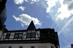 Typical half-timbered Houses in Germany Royalty Free Stock Images