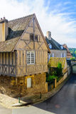 Typical half-timbered old building in Autun Royalty Free Stock Image