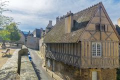 Typical half-timbered old building in Autun. Burgundy, France Royalty Free Stock Photography