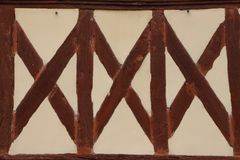 Typical Half timbered wall in Normandy Stock Images