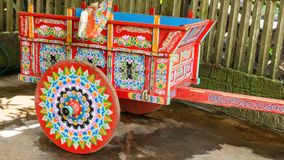 Typical hand painted agricultural wagon Royalty Free Stock Photo