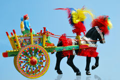 Typical handcart sicilian Stock Images