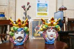 Typical handmade ceramic in Martina Franca, Italy Stock Image