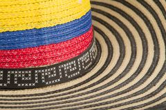 Typical hat from Colombia, Sombrero vueltiao.  royalty free stock image