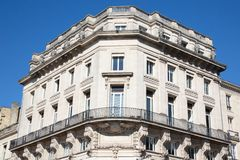 Typical Haussmann building architecture in Paris bordeaux France. A Typical Haussmann building architecture in Paris bordeaux France stock images