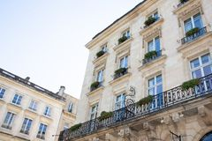 Typical Haussmann building in Bordeaux like Paris. A Typical Haussmann building in Bordeaux like Paris stock photos