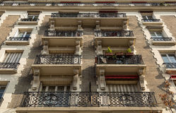 Typical Haussmann building in Paris. Stock Images