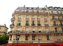 Typical Haussmann french building Royalty Free Stock Images
