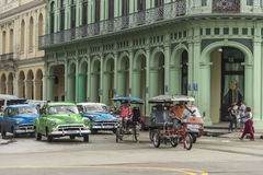 Typical Havana taxis Royalty Free Stock Image