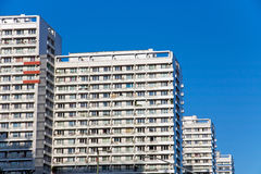 Typical highrise buildings in Berlin. Some typical precast buildings in former East-Berlin Stock Image