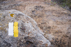 Hiking trail marker Royalty Free Stock Image