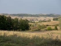 Hills in Oltenia. Typical hills landscape in the historic region of Oltenia, Romania, near the village of Cremenea, Mehedinti County Stock Photography