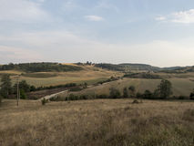 Hills in Oltenia. Typical hills landscape in the historic region of Oltenia, Romania, near the village of Cremenea, Mehedinti County Stock Images