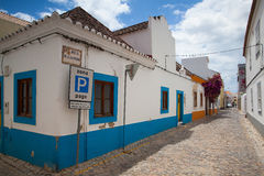 Typical historic street with Moorish elements Stock Image